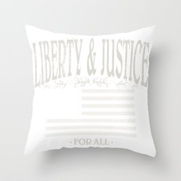 Liberty and Justice For All | American Conservatism | liberty - Vintage Throw Pillow