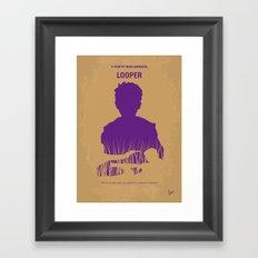 No636 My Looper minimal movie poster Framed Art Print