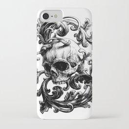Acanthus skull iPhone Case