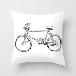 Cruiser Bicycle Throw Pillow
