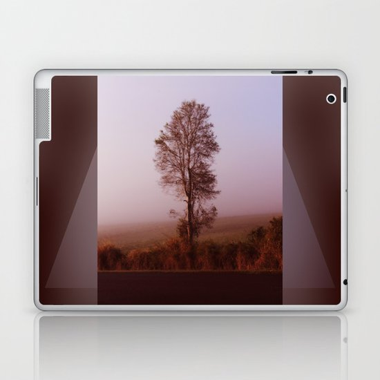 Standing alone in the fog Laptop & iPad Skin