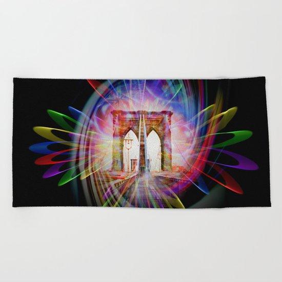 Abstract perfektion - Brooklyn Bridge Beach Towel