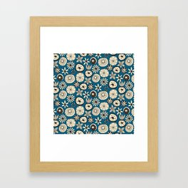 sumer flowers blue Framed Art Print