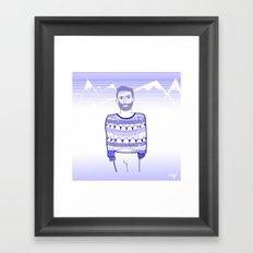 Get cold Framed Art Print