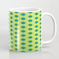 green pattern Mugs featuring Pattern green by LoRo  Art & Pictures