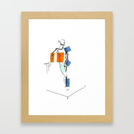 Standing Man Framed Art Print