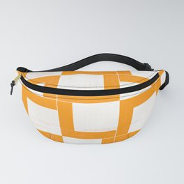 Mustard Geometric Shapes On Japanese Paper Fanny Pack