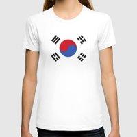 korean T-shirts featuring South Korean Flag  by Laura Ruth