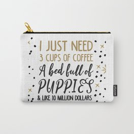 Puppies and coffee Carry-All Pouch