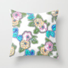 Topography Floral 2 Throw Pillow