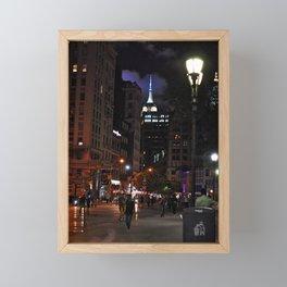 Night has fallen... Framed Mini Art Print