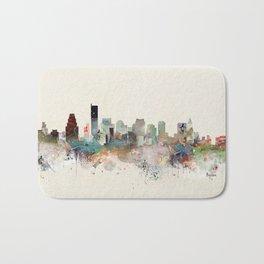 boston massachusetts skyline Bath Mat