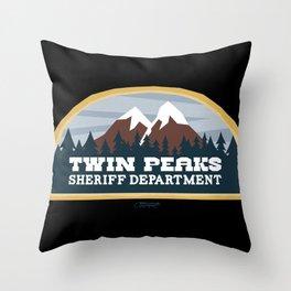 Twin Peaks Sheriff Department (Redux) Throw Pillow