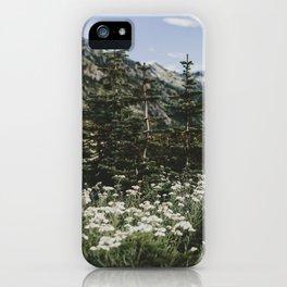 Mount Rainier Summer Wildflowers iPhone Case