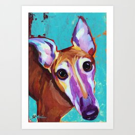 Chester - Colorful Greyhound Art Print