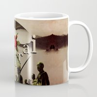 samurai Mugs featuring samurai by Rosa Picnic