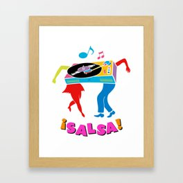 Salsa dance Framed Art Print