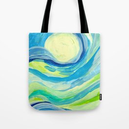 When the Sky Meets the Earth Tote Bag