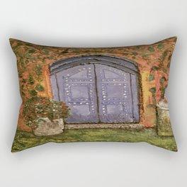 Old Door Rectangular Pillow