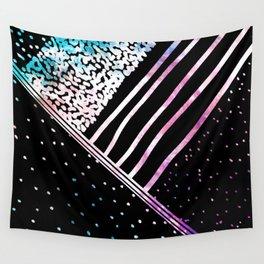 Modern pink teal black watercolor geometrical Wall Tapestry