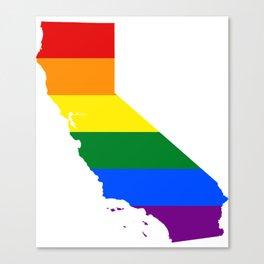 California Gay Pride Rainbow Flag LGBT Shirt Canvas Print