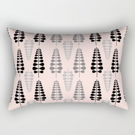Pink Retro Floral Tree Pattern - Mix and Match with Simplicity of Life Rectangular Pillow