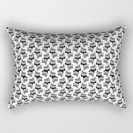 Blak & white convergence pattern Rectangular Pillow