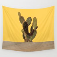 cacti Wall Tapestries featuring CACTI by MODERN UNDERGROUND