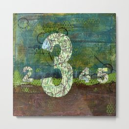 Journey by Number: three comes before four Metal Print