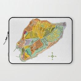Mackinac Island Illustrated Map Laptop Sleeve