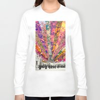paris Long Sleeve T-shirts featuring Vintage Paris by Bianca Green