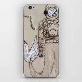 The mermaid diver iPhone Skin
