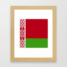 Belarus flag emblem Framed Art Print