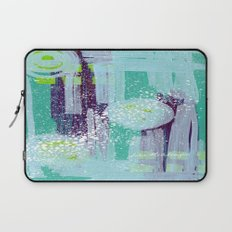 Teal Background Laptop Sleeve