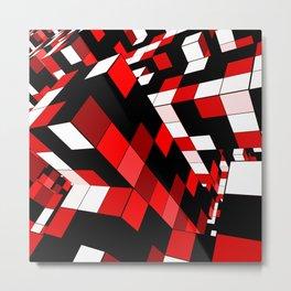 Rubik series 1, red Metal Print