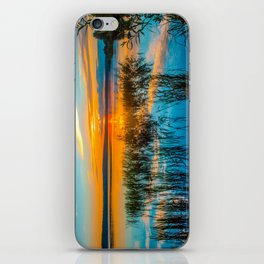 Sunset on the river iPhone Skin