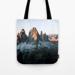 Dolomites sunset panorama - Landscape Photography Tote Bag