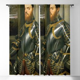 "Tintoretto (Jacopo Robusti) ""Young man in a gold-decorated suit of armour"" Blackout Curtain"