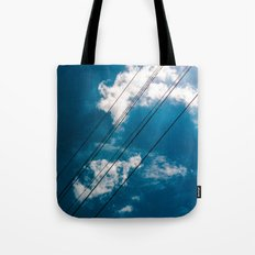 Lines in the sky Tote Bag