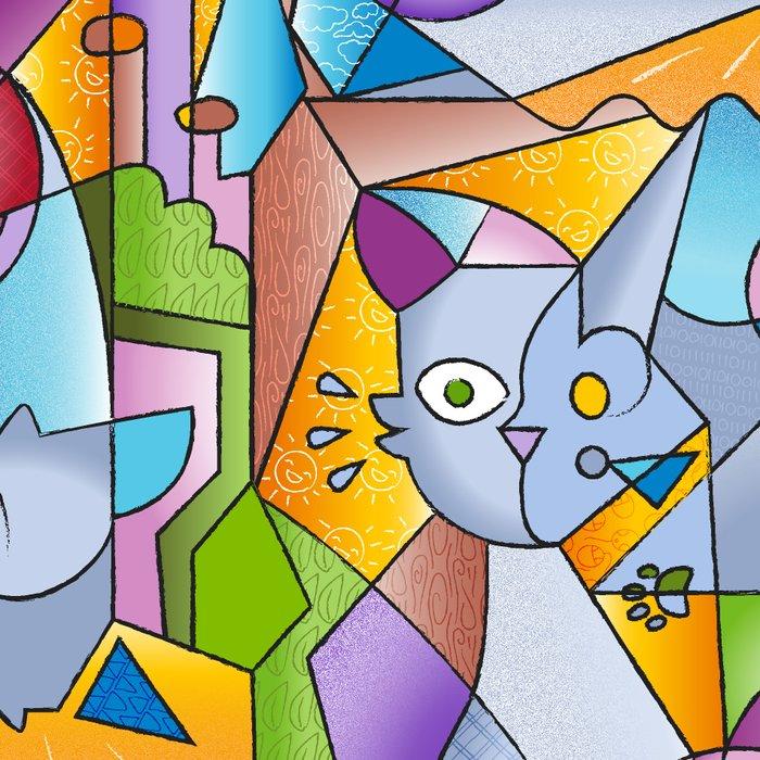 Cubist Cats - The Mininos Leggings