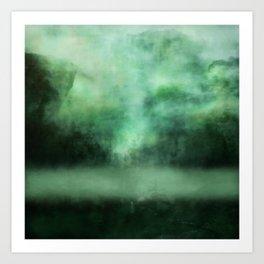 Atmosphere in  green. Art Print
