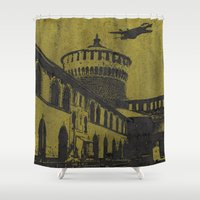 milan Shower Curtains featuring Milan 5 by Anand Brai
