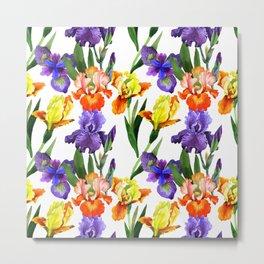 Iris Pattern 04 Metal Print