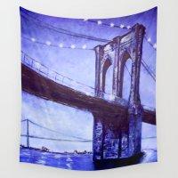 brooklyn bridge Wall Tapestries featuring Brooklyn by Deirdra Kelly