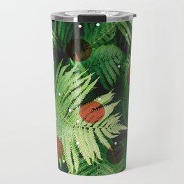 Landscape plants & circles Travel Mug