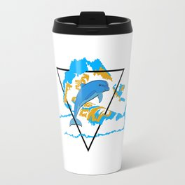 Dolphin in water element Travel Mug
