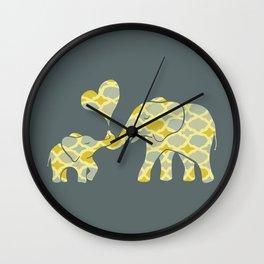 Elephant Hugs Wall Clock