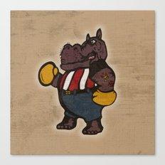 Hippo Pugilist Canvas Print