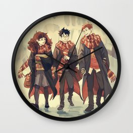 the golden trio Wall Clock