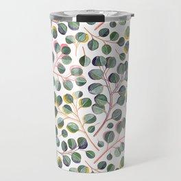 Simple Silver Dollar Eucalyptus Leaves Travel Mug